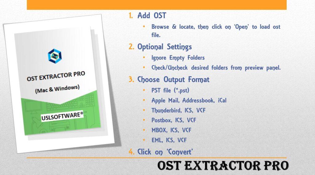 Convert Microsoft OST to PST